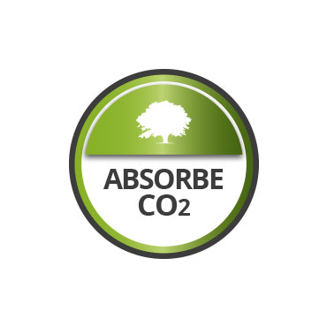 Transpirable. Absorbe CO2