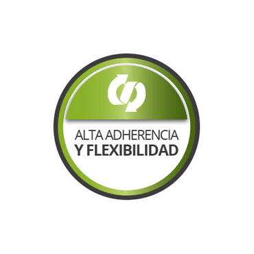 Alta flexibilidad y adherencia
