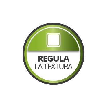 Regula la absorción y textura del soporte