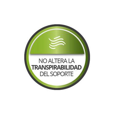 No altera la transpirabilidad