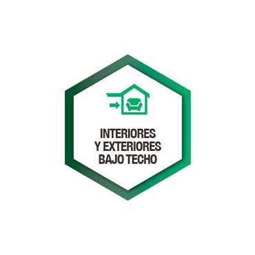 Interiores y exteriores bajo techo