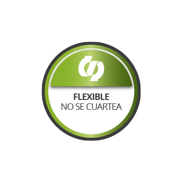 Flexible. No se cuartea