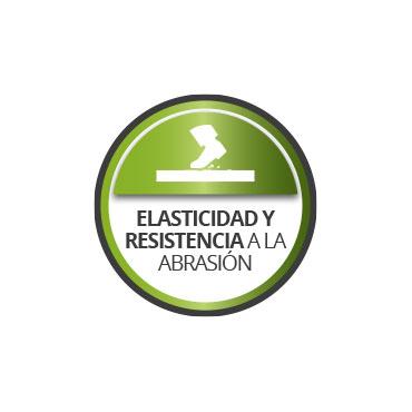 Alta elasticidad y resistencia a la abrasión