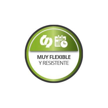 Flexible y resistente