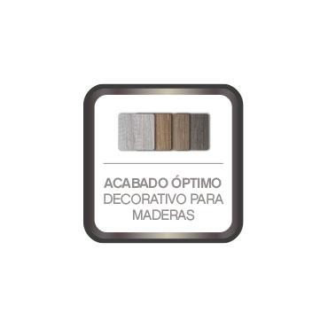 Acabado de alta decoración para maderas