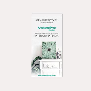 Brochure tríptico Graphenstone AmbientPro+ 2019