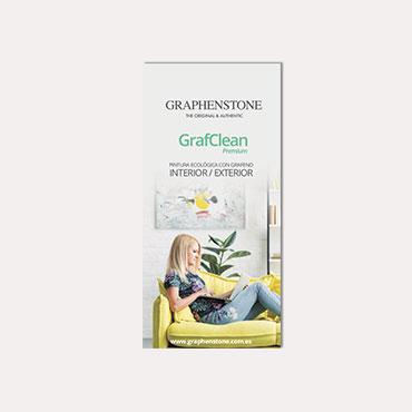 Brochure tríptico Graphenstone GrafClean 2019