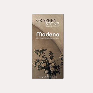 Brochure tríptico Graphenstone Modena 2018