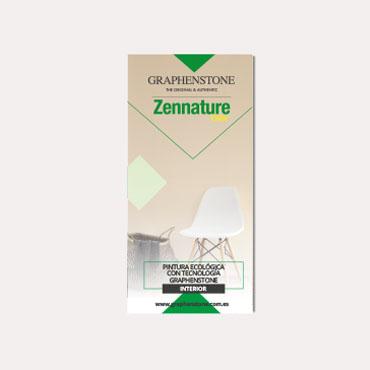Brochure tríptico Graphenstone Zennature 2019
