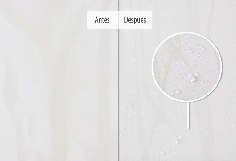Tratamiento hidrofugrante para morteros y pinturas minerales