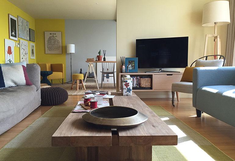 Graphenstone renovación de apartamento con sistema de color natural