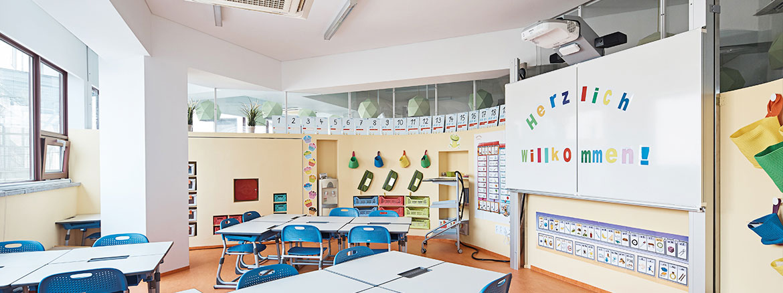 Graphenstone escuela de alemán en Corea. Proyecto realizado por Daniel Valle Arquitectos. Pinturas ecológicas y respetuosas con la salud